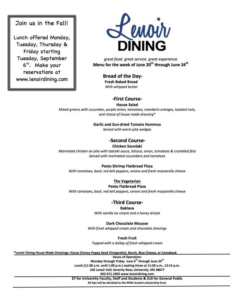 Lenoir Dining Menu Week 3 FINAL
