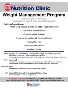 Weight Management Flyer_Spring 2015